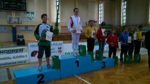 Maciej Białas srebry medal Mistrzostw Polski Młodzików Wrocław 2014