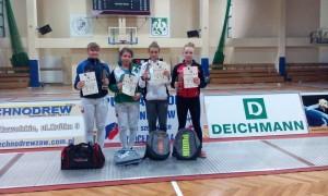I Puchar Polski Juniorek Wrocław 2014 Anna Mroszczak na drugim miejscu.